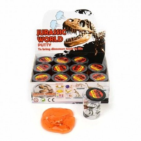 Glut z dinozaurem - Dino world putty
